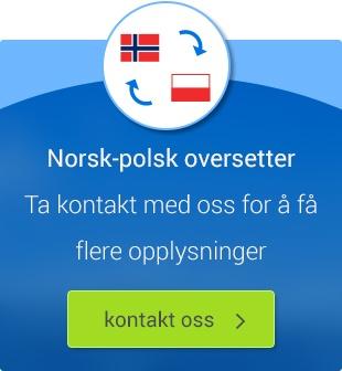 Norsk-polsk oversetter. Kontakt oss