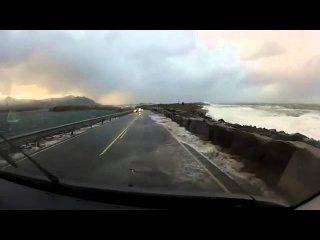 Dangerous Norway's Atlantic Ocean Road