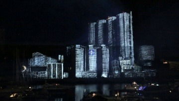 3D projection mapping, Factory Light Festival 2014, Norway (original soundtrack)