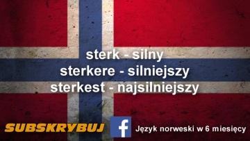 Szybka i skuteczna nauka języka norweskiego - 10 przymiotników ze stopniami