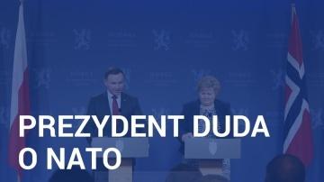Prezydent Duda o NATO po spotkaniu z premier Solberg