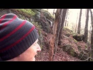 Huge troll chasing man in the Norwegian woods