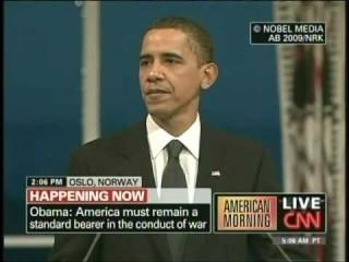 President Obama Nobel Peace Prize Speech Oslo Norway (December 10, 2009) [3/4]