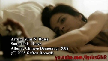 Guns N' Roses - This I Love (Official Video)