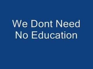 Pink Floyd - We Don't Need No Education Lyrics in Description!