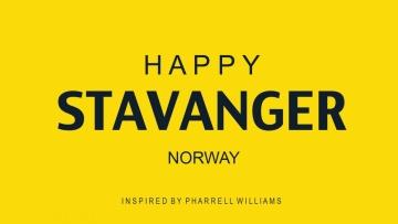 Pharrell Williams -- HAPPY (We are from Stavanger, Norway)  #HAPPYDAY