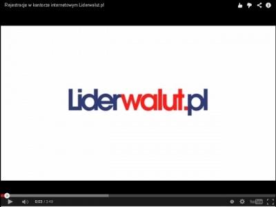 Rejestracja w kantorze internetowym Liderwalut.pl !