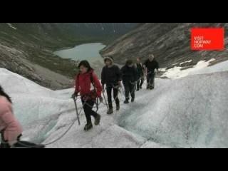 Glacier walking on Nigardsbreen Glacier in Norway